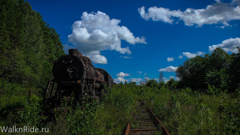 Кладбище паровозов в Шумково
