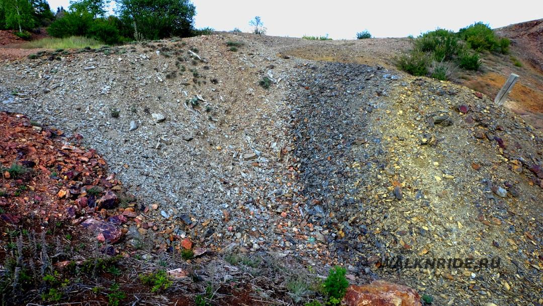 Отвалы лазурского месторождения