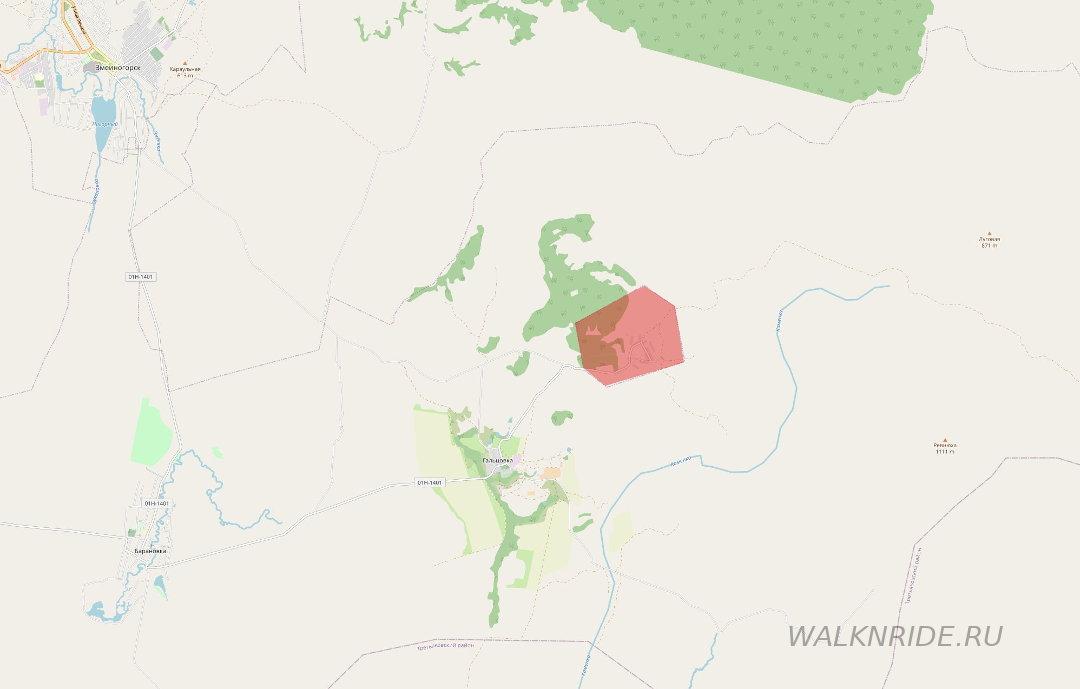 Лазурское месторождение карта